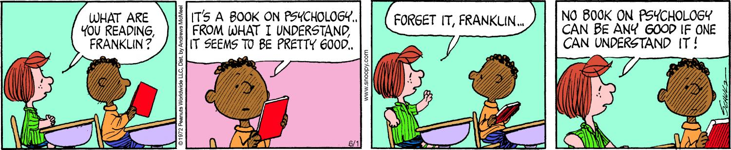 Franklin and Peppermint Patty in school, 2019