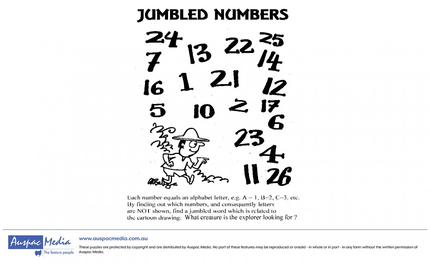 Thumbnail for Jumbled Numbers