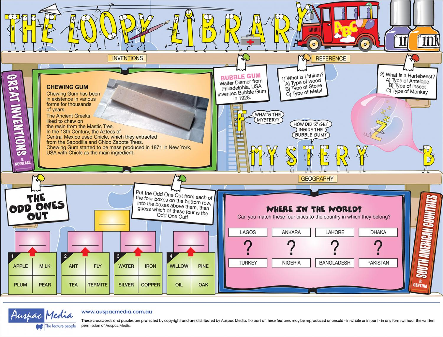 Thumbnail for Loopy Library - Half Page