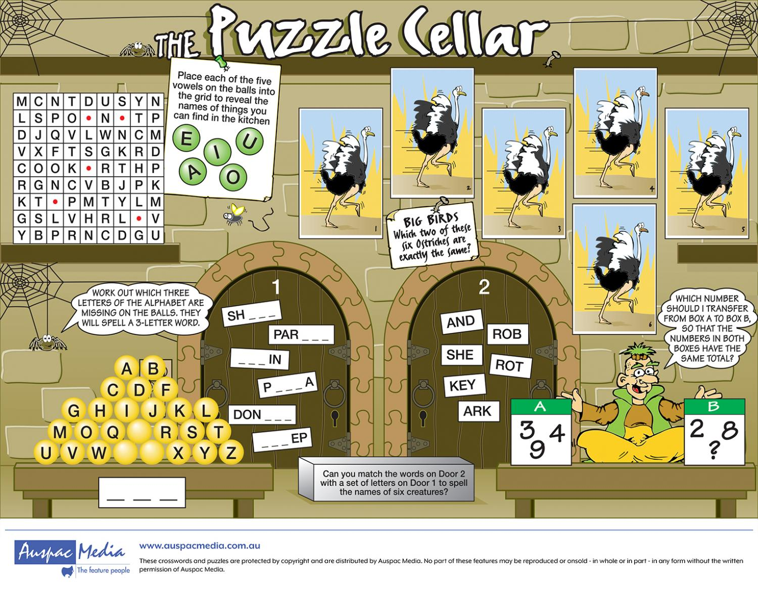 Thumbnail for The Puzzle Cellar (Half page)