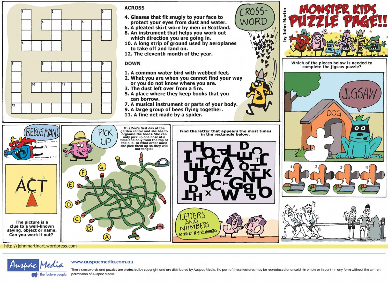 Thumbnail for Monster Kids Puzzle - Half Page