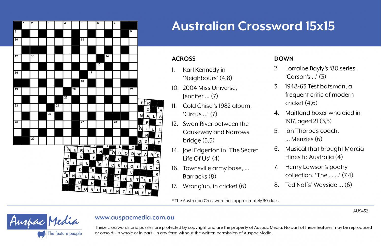 Thumbnail for Australian Crossword 15X15