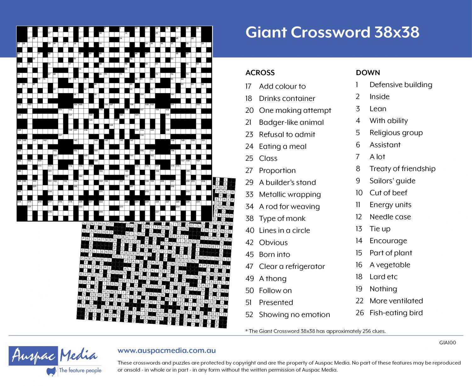 Thumbnail for Giant Crossword 38x38