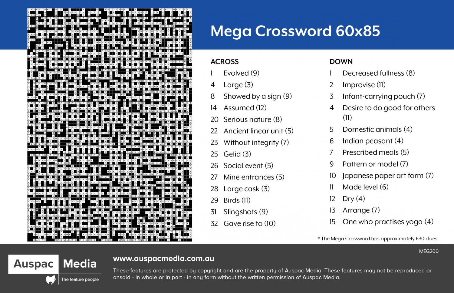 Thumbnail for Mega Crossword 60x85