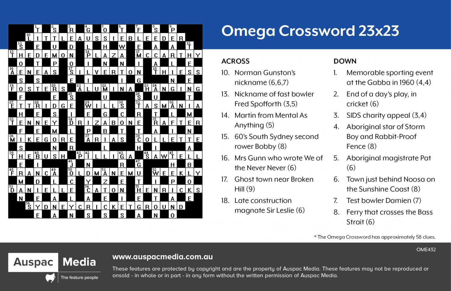Thumbnail for Omega Crossword 23x23