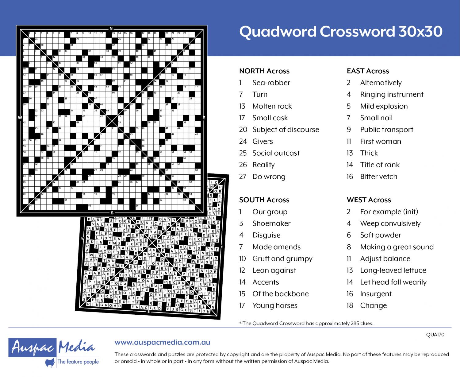 Thumbnail for Quadword Crossword 30x30