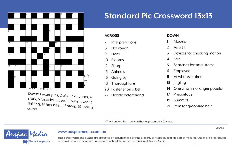 Thumbnail for Standard Pic Crossword 13x13