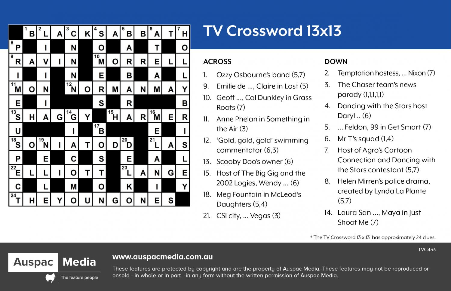 Thumbnail for TV Crossword  13x13