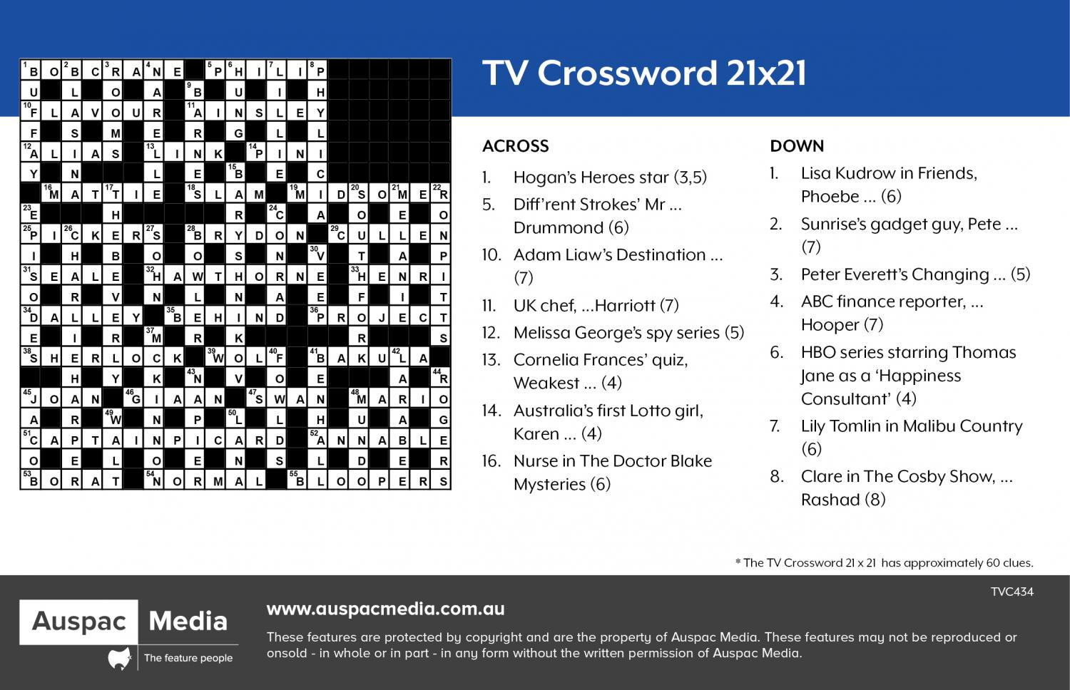 Thumbnail for TV Crossword 21X21