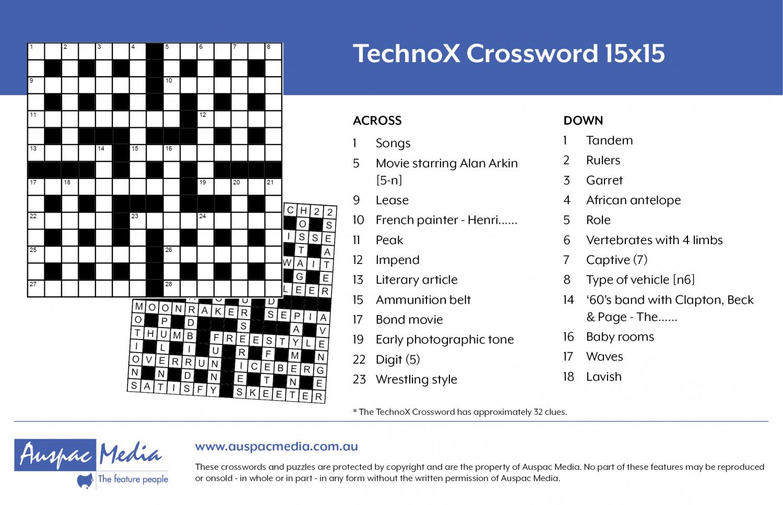 Thumbnail for TechnoX Crossword