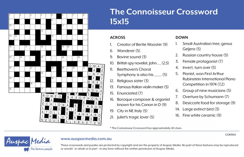 Thumbnail for The Connoisseur 15x15