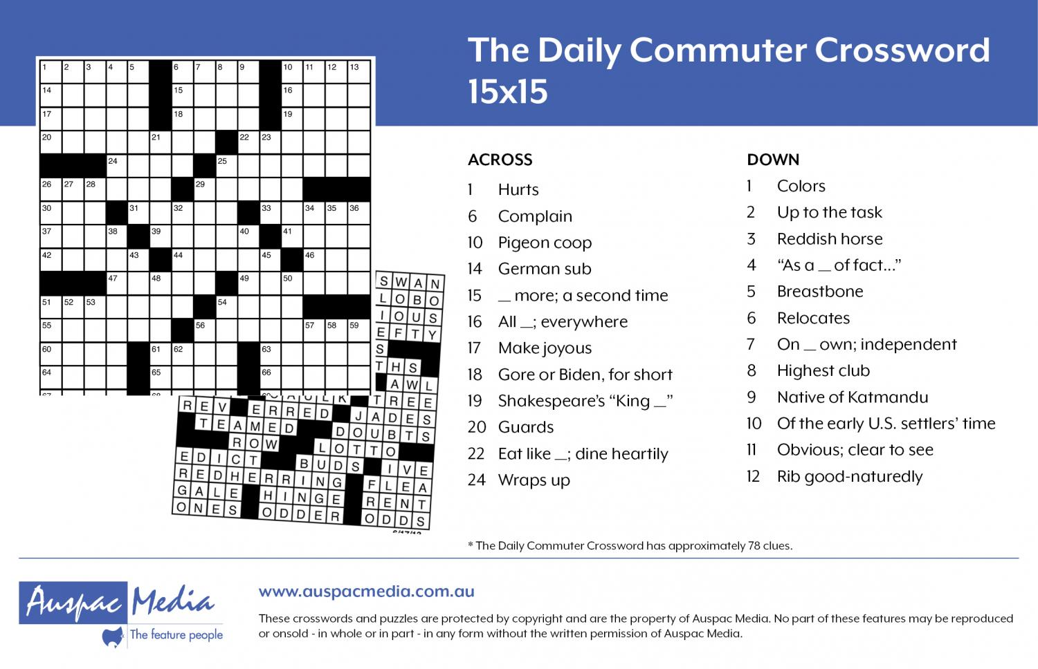 Thumbnail for The Daily Commuter Puzzle 15x15