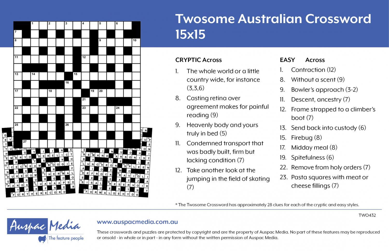 Thumbnail for Twosome Australian 15x15