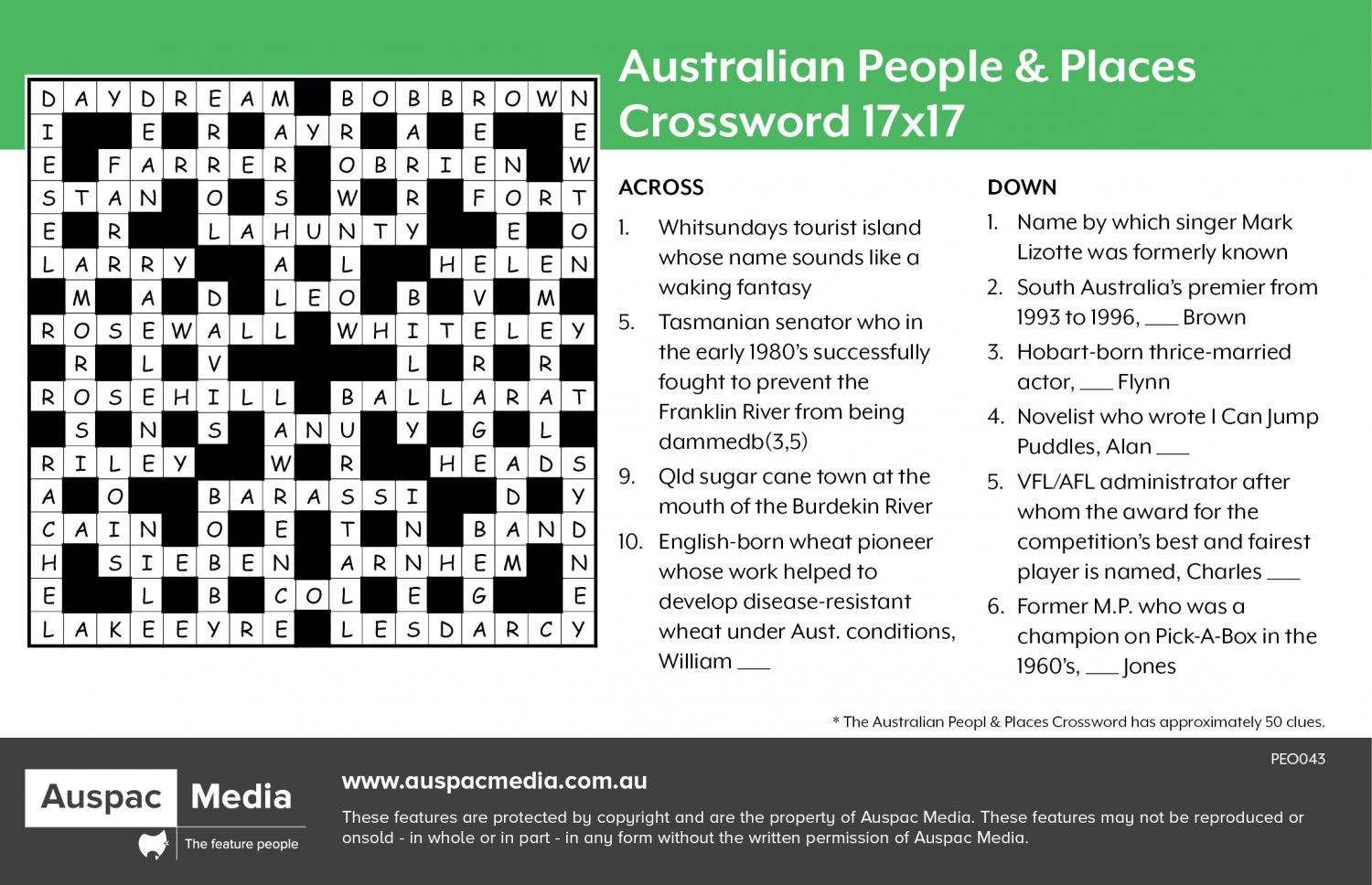 Thumbnail for Australian People & Places 17x17