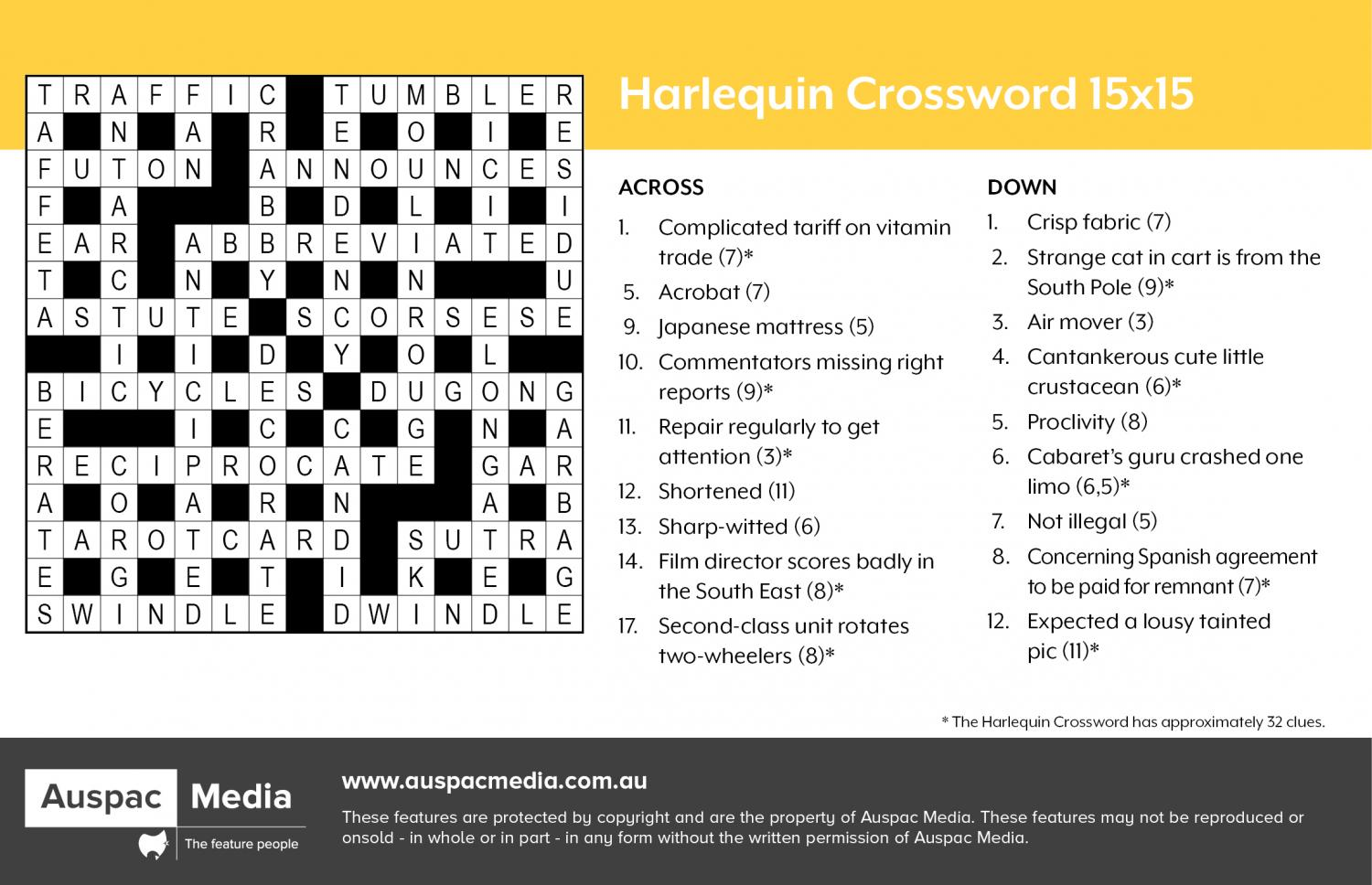 Thumbnail for Harlequin Crossword