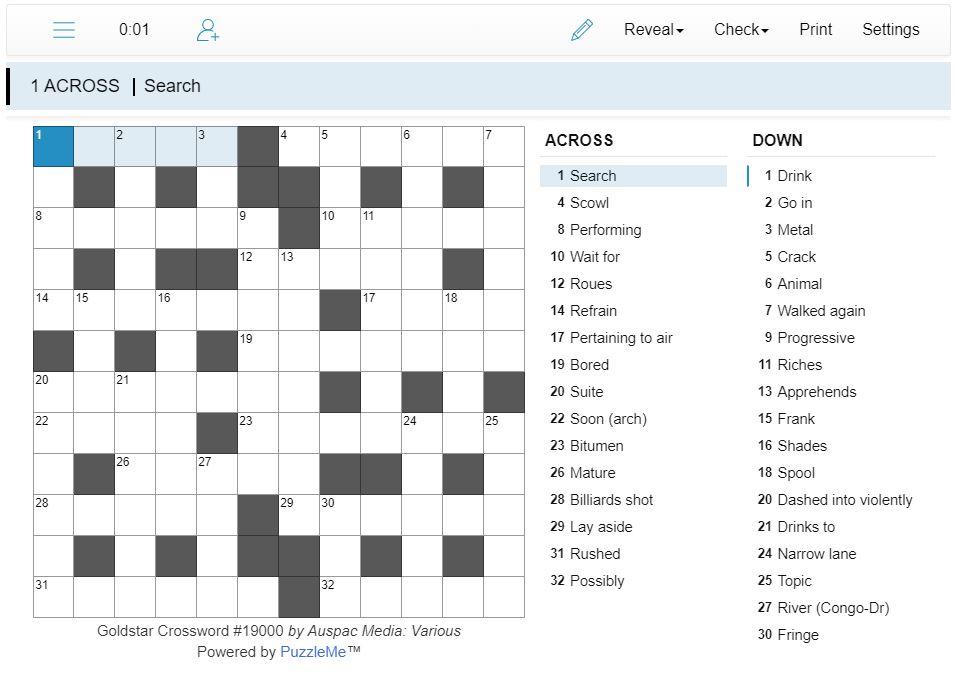 Thumbnail for Online Goldstar Crosswords
