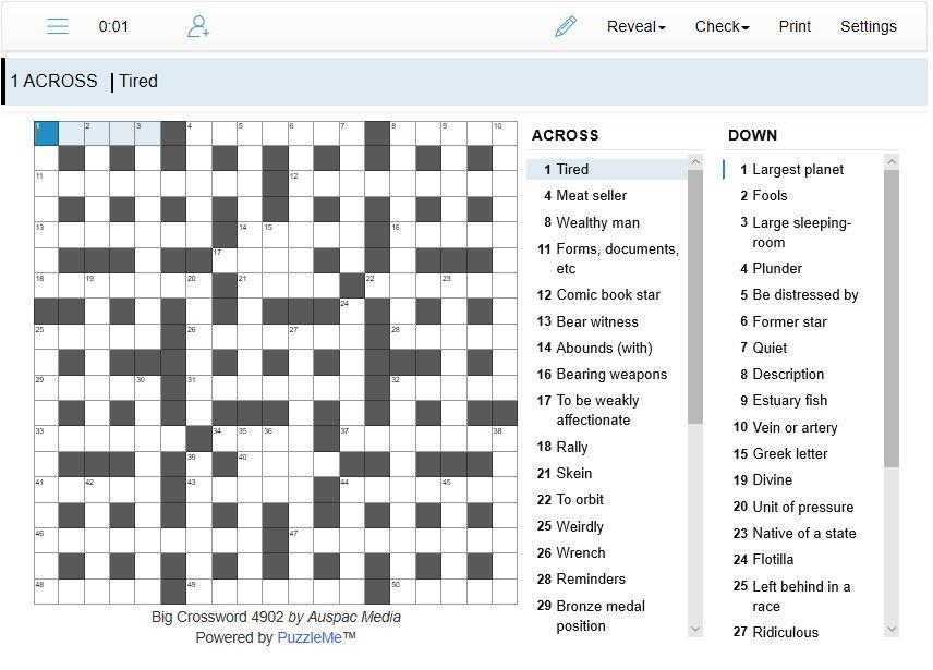 Thumbnail for Online Big Crosswords
