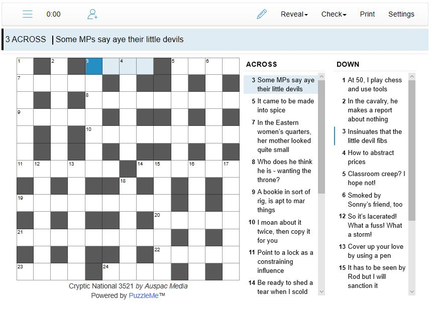 Thumbnail for Online Cryptic National Crosswords