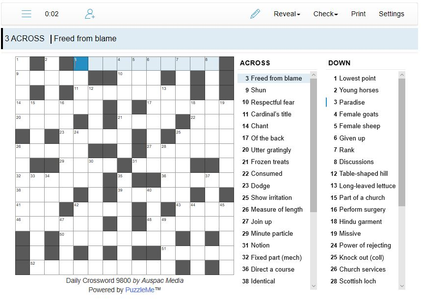 Thumbnail for Online Daily Crosswords