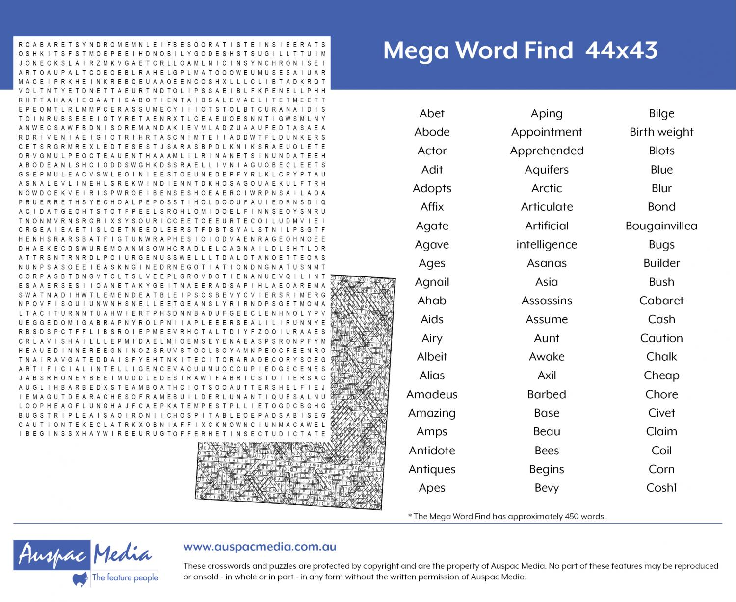 Thumbnail for Mega Word Find 44x43