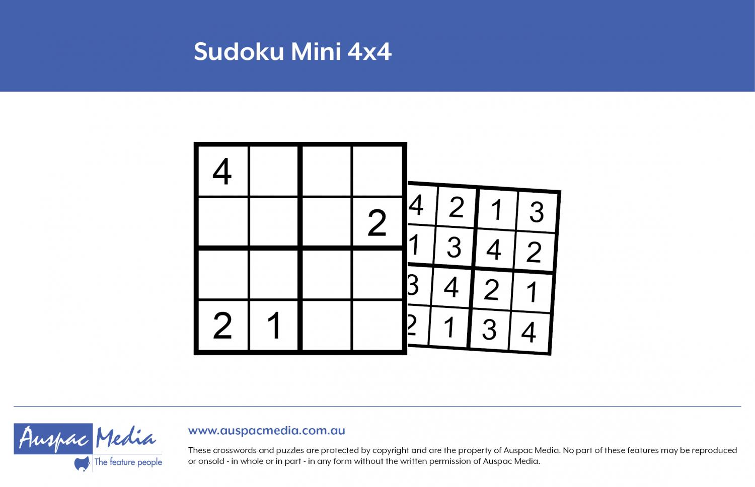 Thumbnail for Sudoku Mini 4x4