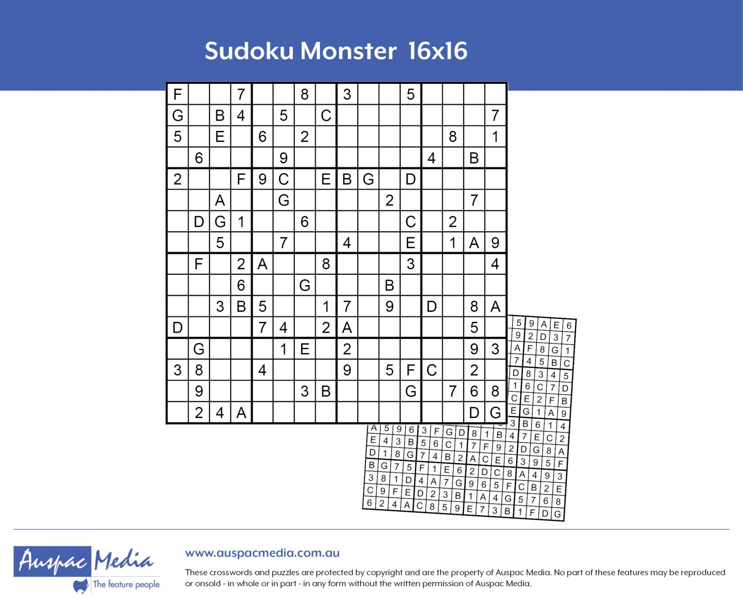 Thumbnail for Sudoku Monster 16x16