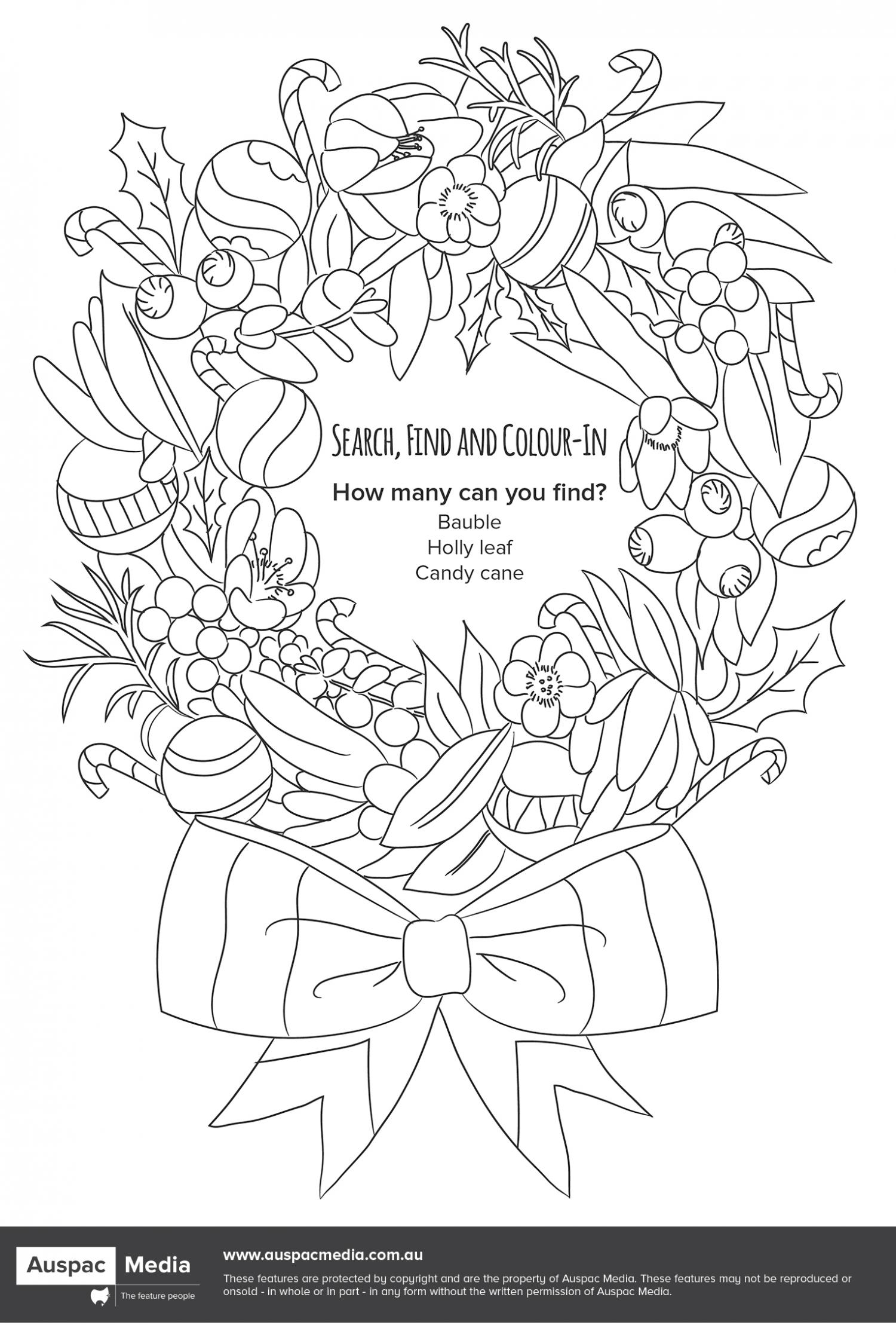 Thumbnail for Search, Find and Colour-In - Christmas
