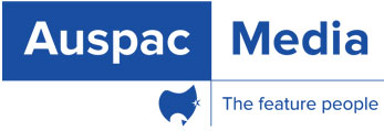 Auspac Media - The Feature People  Logo