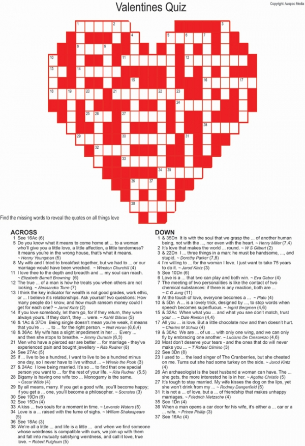 Thumbnail for Valentine's Crossword Quiz