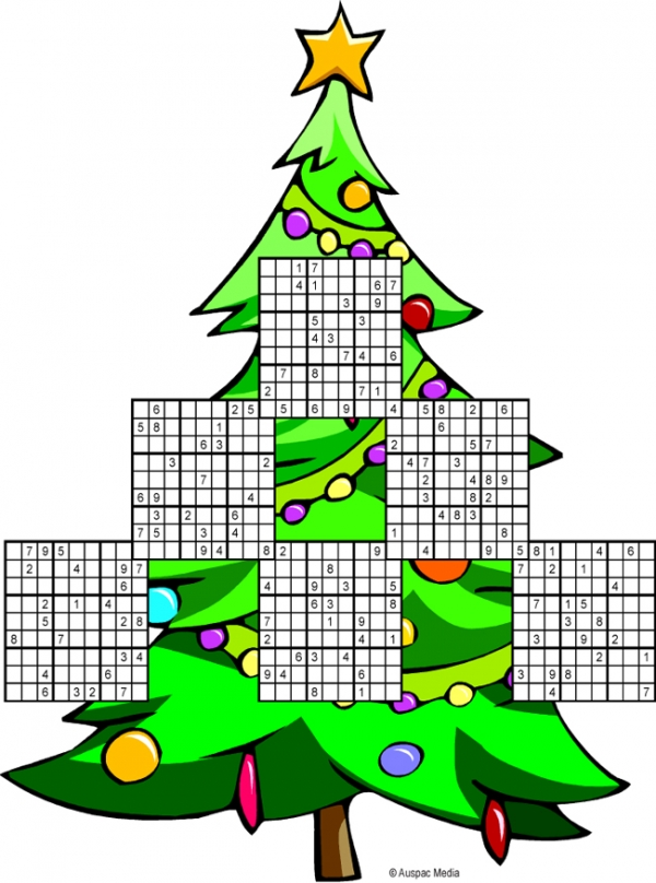 Thumbnail for Sudoku Christmas Tree multi-puzzle