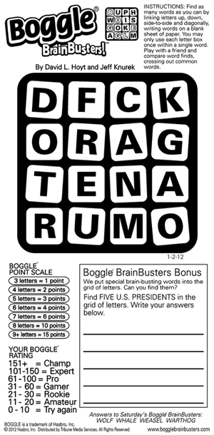 Thumbnail for Boggle® BrainBusters