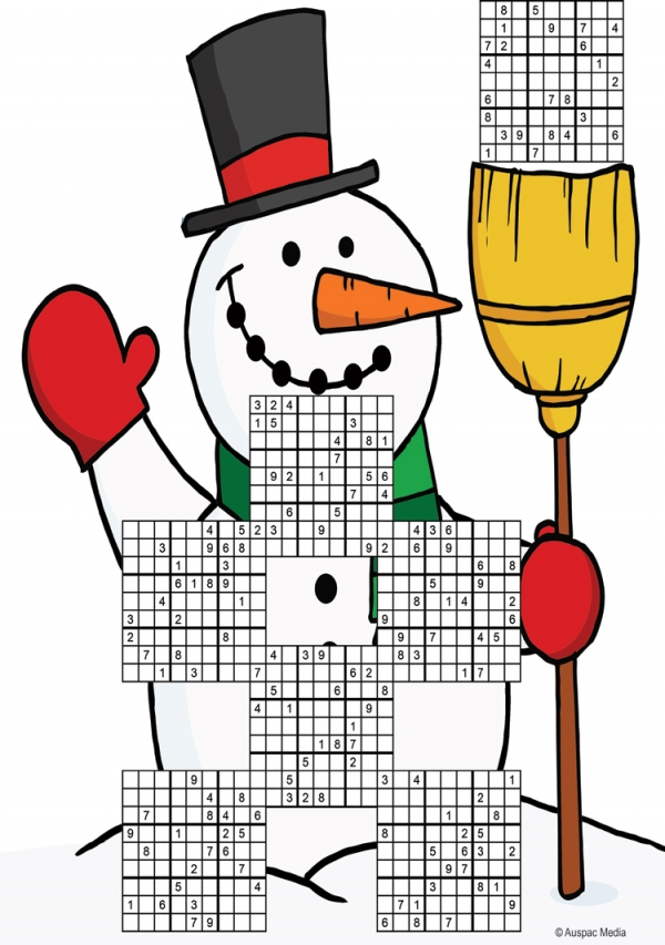 Thumbnail for Christmas Snowman  Sudoku