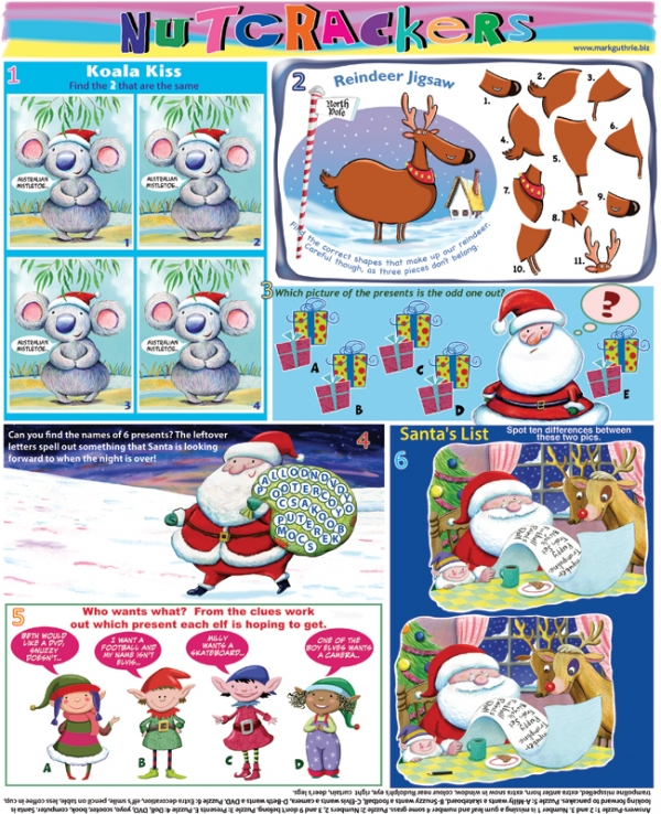 Thumbnail for Nutcrackers Christmas puzzle page