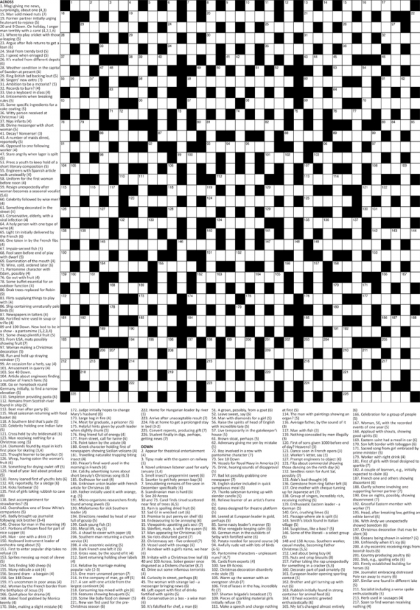 Thumbnail for Giant Cryptic Christmas crossword (PA)