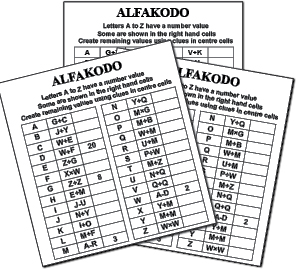 Image 1 for 20 ALFAKODO PUZZLE BOOKLET 12
