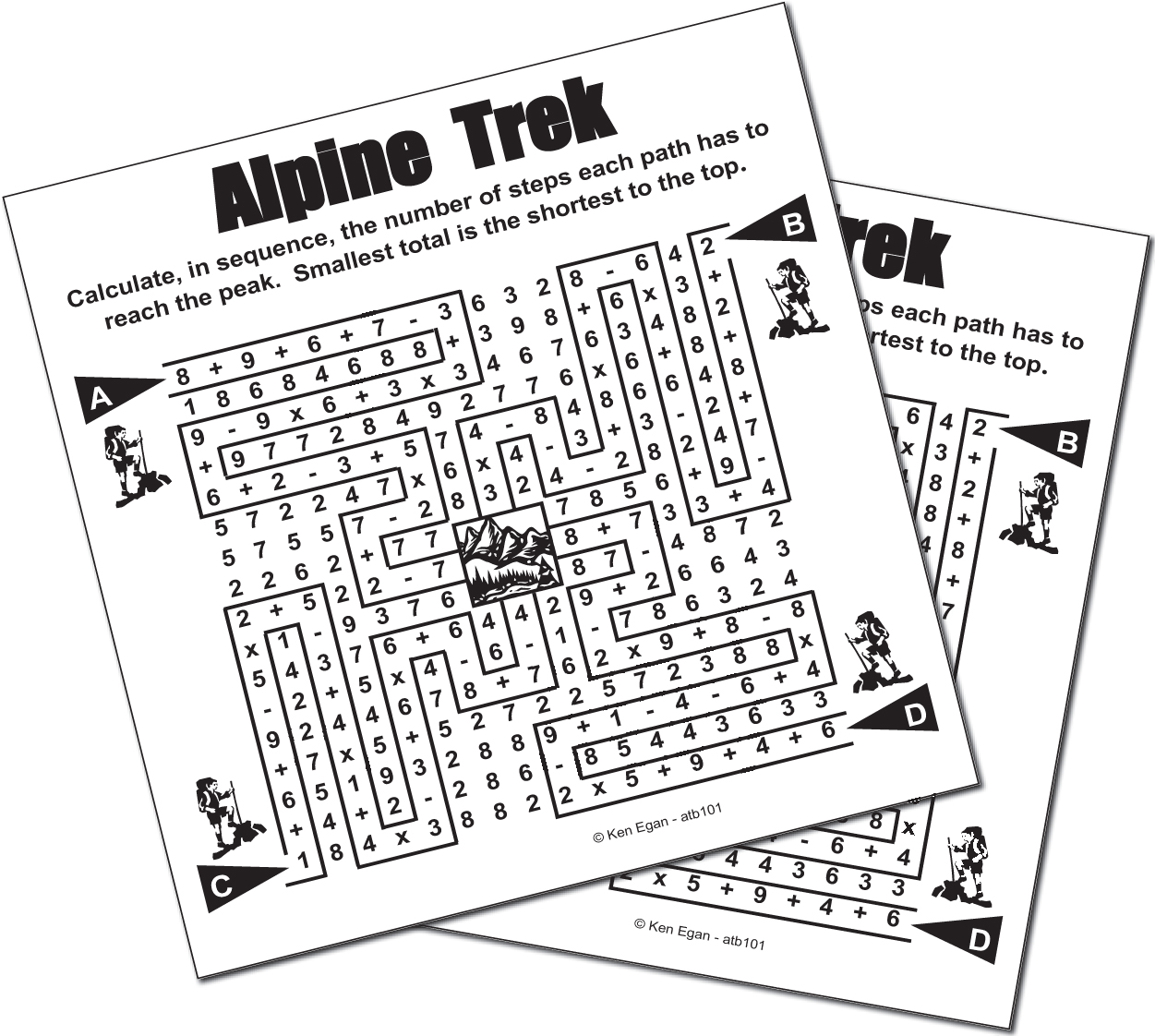 Thumbnail for 20 ALPINE TREK PUZZLE BOOKLET 01