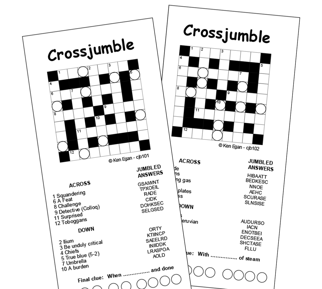 Thumbnail for 20 CROSSJUMBLE PUZZLE BOOKLET 01