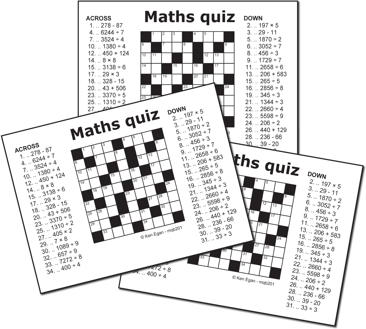 Thumbnail for 20 MATHS QUIZ PUZZLE BOOKLET 01