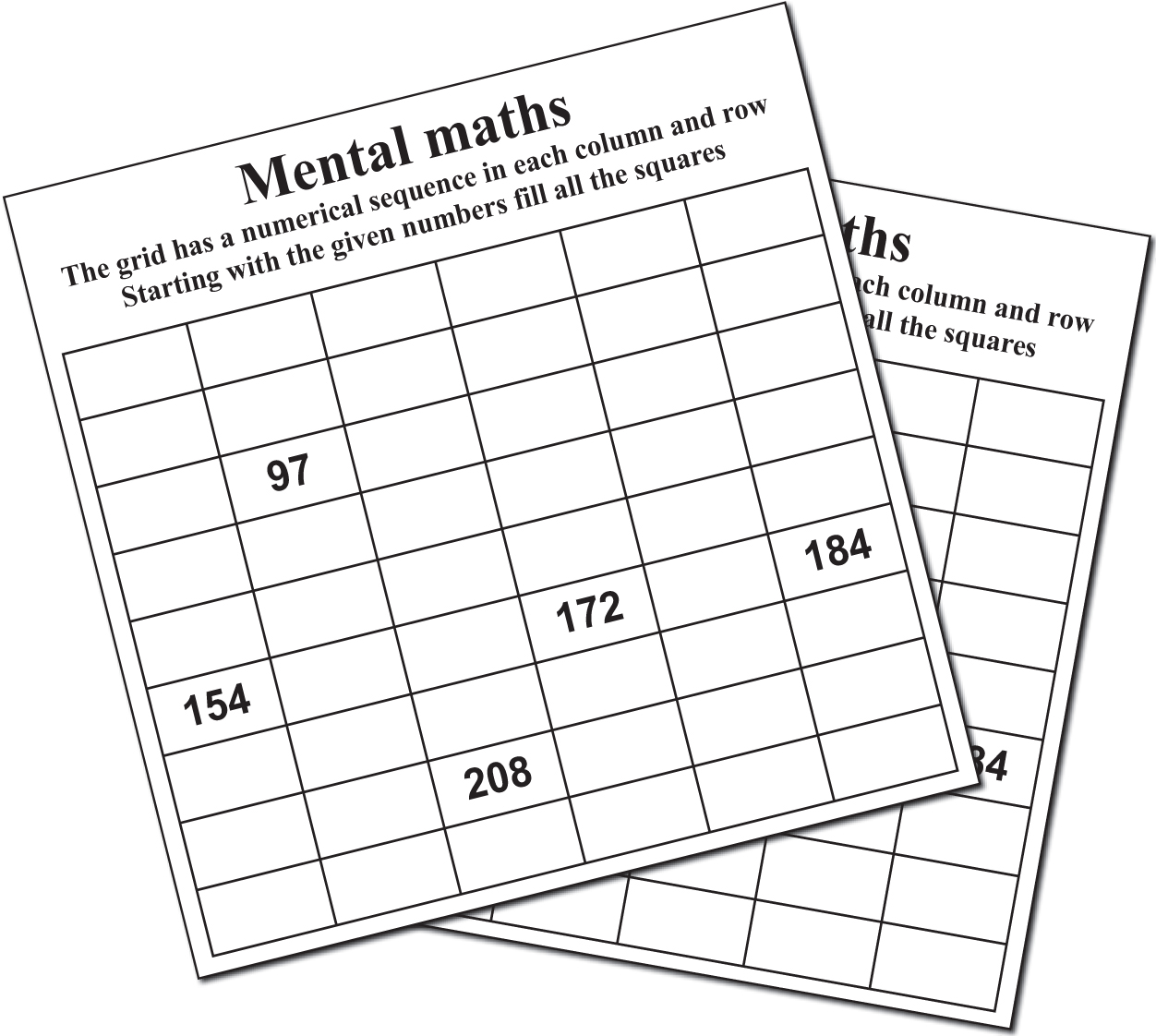 Image 1 for 20 MENTAL MATHS PUZZLE BOOKLET 02