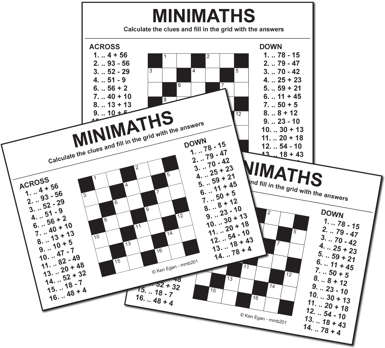 Thumbnail for 20 MINI MATHS PUZZLE BOOKLET 02