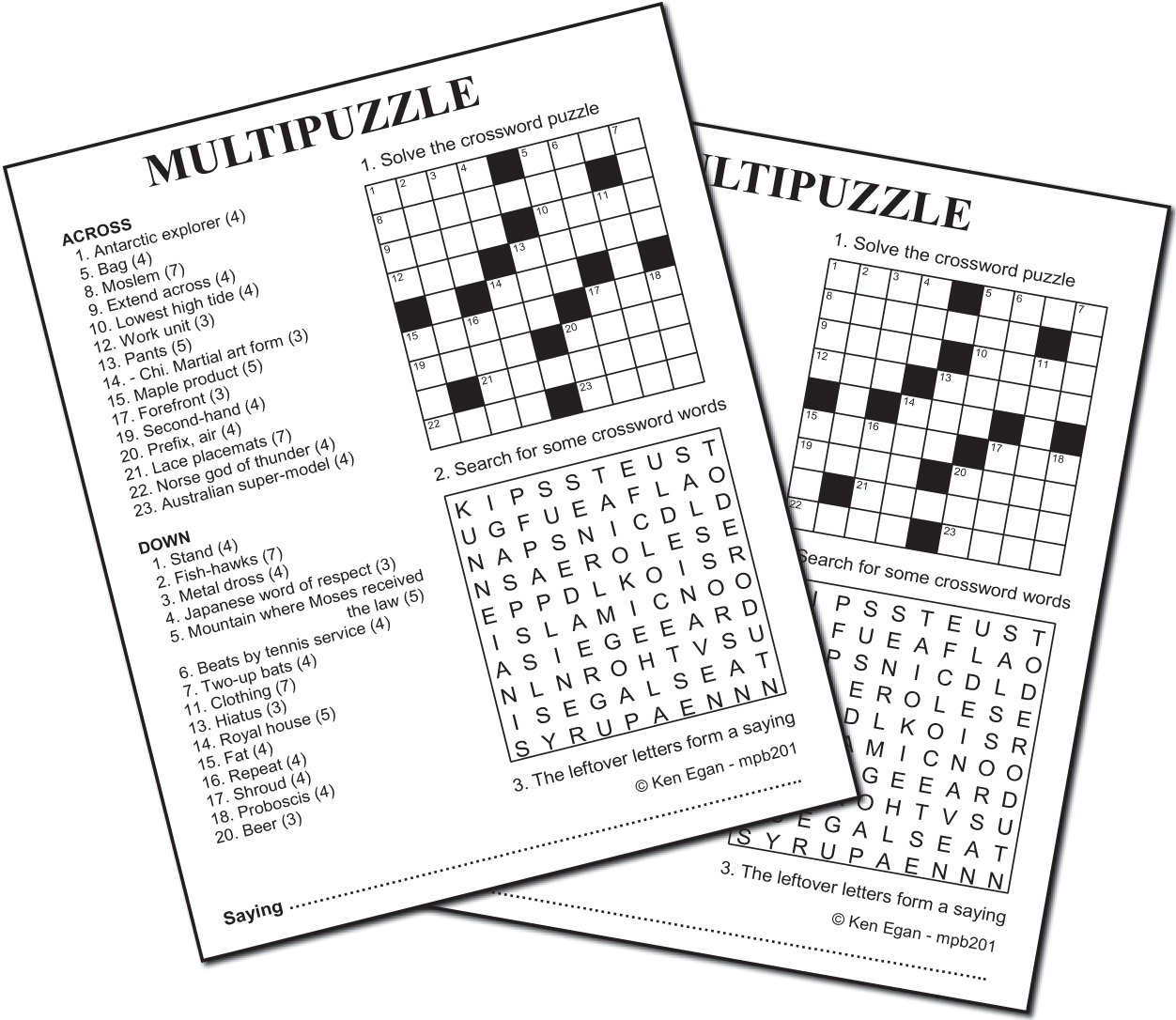 Thumbnail for 20 MULTIPUZZLE PUZZLE BOOKLET 01